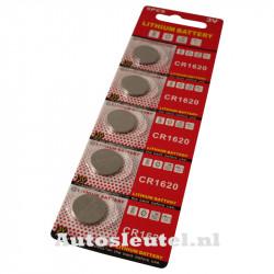 Knoopcelbatterij CR1620 - 5 stuks