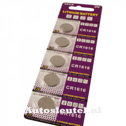 Knoopcelbatterij CR1616 - 5 stuks