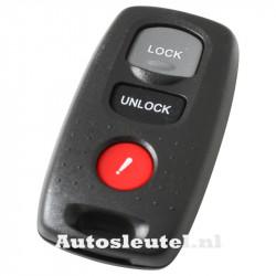 Mazda 3-knops afstandsbediening met paniek knop