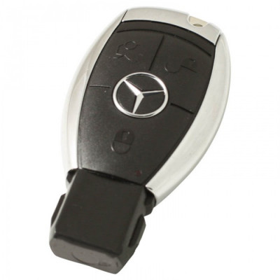 Mercedes 3-knops smart key behuizing met elektronica 433MHZ