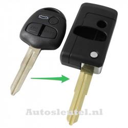 Mitsubishi 3-knops klapsleutel - sleutelbaard punt (ombouwset)