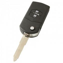 Mazda 2-knops klapsleutel - sleutelbaard punt met inkeping rechts (model 2)