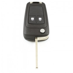 Opel 2-knops klapsleutel - sleutelbaard recht