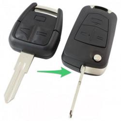 Opel 3-knops klapsleutel - sleutelbaard punt inkeping rechts (ombouwset)