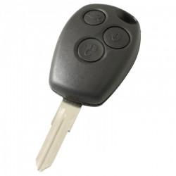 Renault 3-knops sleutelbehuizing - sleutelbaard punt met elektronica 433MHZ - 7946 transponder