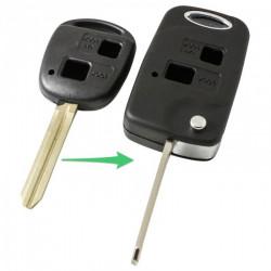 Toyota 2-knops klapsleutel - sleutelbaard punt met inkeping rechts (ombouwset)