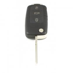 Volkswagen 3-knops klapsleutel - sleutelbaard recht met inkeping zijkant (model 1)