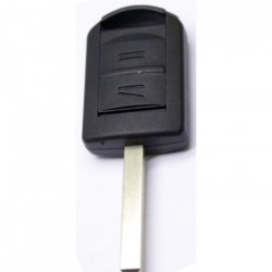 Opel 2-knops sleutelbehuizing - sleutelbaard recht met elektronica 433MHZ - ID40 transponder (model 1)